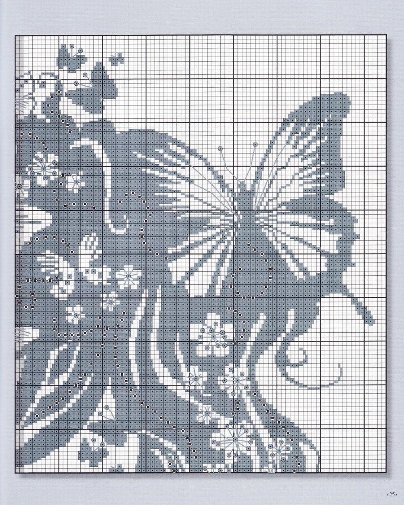 Схемы вышивки на черной канве белыми нитками 52